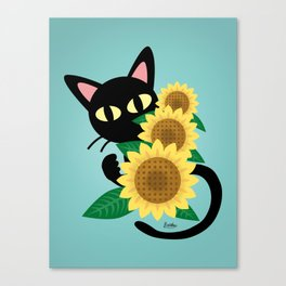Whim with Sunflower Canvas Print