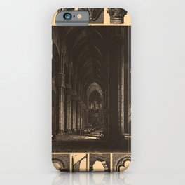 Iconographic Encyclopedia of Science, Literature and Art (1851) - Middle Age Gothic Churches 2 iPhone Case