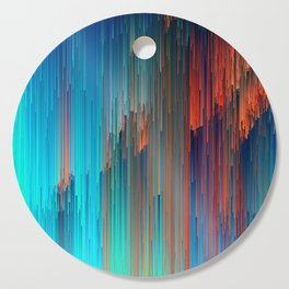 All About Us - Abstract Glitch Pixel Art Cutting Board