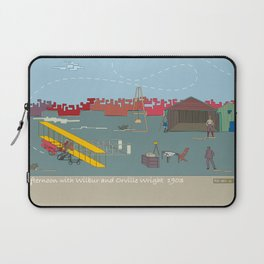 Wilbur and Orville Wright, 1903 (c) Laptop Sleeve