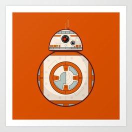 BB8 Droid on Orange Art Print