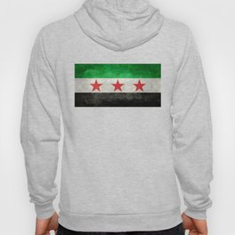 Syrian independence flag, vintage style Hoody