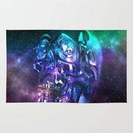 vaporwave skull Rug