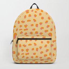 Cute saffron pink animal print Backpack