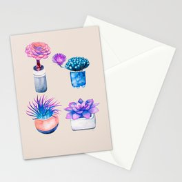 Succulents Cactus pattern Stationery Cards
