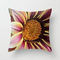 racing Throw Pillows featuring Racing Stripes by IowaShots