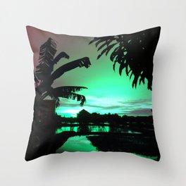 Sunset (cool) Throw Pillow
