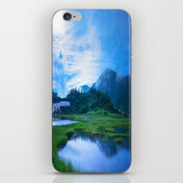 Stormy Japan Alps  iPhone Skin