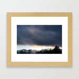 A storm is comin' Framed Art Print