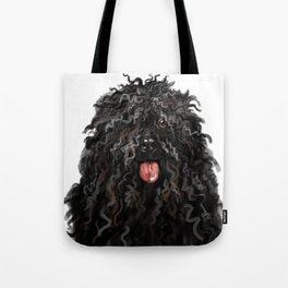 Black Puli Dog Tote Bag