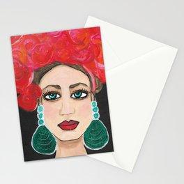 Rosie Life of the Party Original Senorita Portrait Painting Stationery Cards