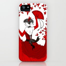 Red Butterfly Witch iPhone Case