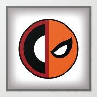 deathstroke Canvas Prints featuring Wilson VS Wilson (Deadpool Deathstroke) by Timmy D. Matias