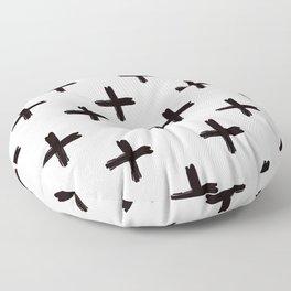 Swiss Cross in Black + White Floor Pillow