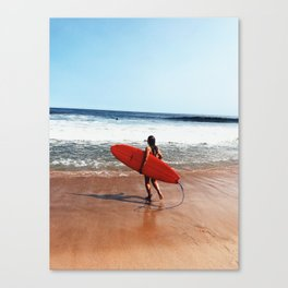 mild surf Canvas Print