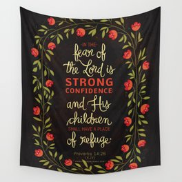 Proverbs 14:26 Wall Tapestry