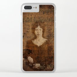 Emily Dickinson 2 Clear iPhone Case