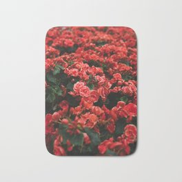 red flora #society6 #decor #buyart Bath Mat