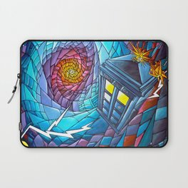 Tardis stained glass style Laptop Sleeve
