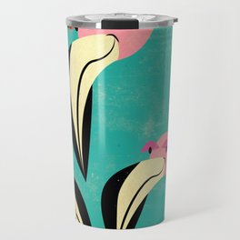 The Curious Flamingos Travel Mug