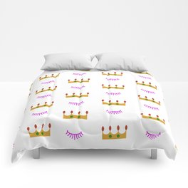 Eyelashes and Crowns Comforters