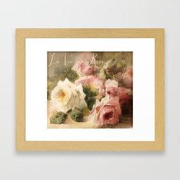 La Vie en Rose Framed Art Print