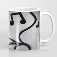 music notes Mugs featuring Music Notes by S. Vaeth