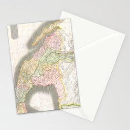 Vintage Map of Mexico (1814) Stationery Cards