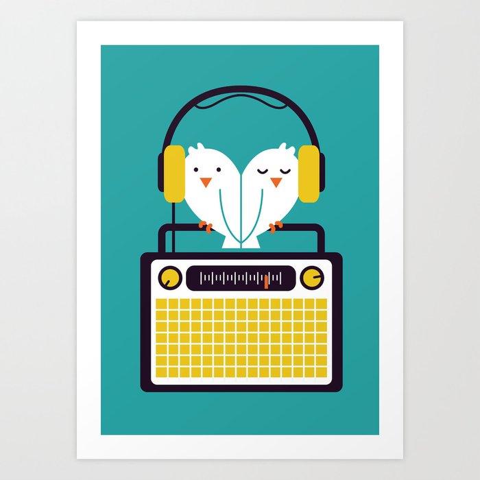 Radio Mode Love Art Print