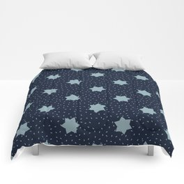 Frilly Stars Texture  Drawn Starry Ornament Comforters