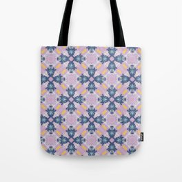 Smith ink blue and pale purple pattern Tote Bag