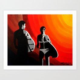 Sun Swallow Art Print