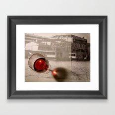 Wine, pencil marks and Venice Framed Art Print