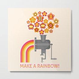 Make a rainbow! Metal Print