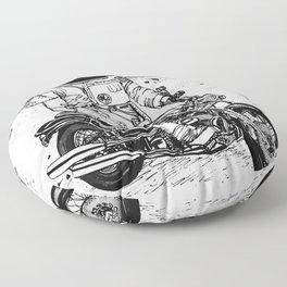 Moon Biker Floor Pillow