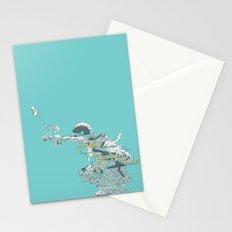 Seafoam Astronaut Stationery Cards