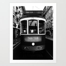 Lisbon Train Art Print