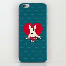 Bull Terrier Love iPhone Skin