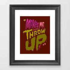 Spewing Santorum Framed Art Print