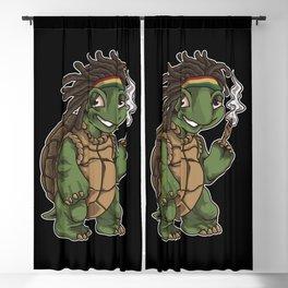 Weed Smoking Turtle | Cannabis THC CBD Rasta Blackout Curtain