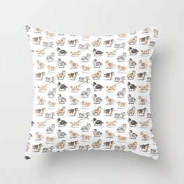 The Rough Collie Throw Pillow