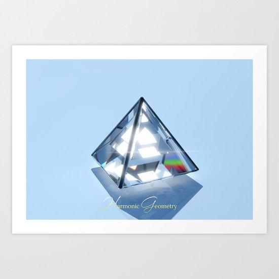 Sacred Geometry - Tetrahedron Art Print