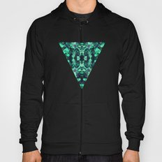 Abstract Surreal Chaos theory in Modern poison turquoise green Hoody
