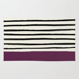 Plum x Stripes Rug