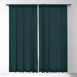 Sparkling Water ~ Dark Green-Blue Blackout Curtain
