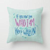 karen Throw Pillows featuring KAREN GEWALT LAFAYETTE by Josh LaFayette