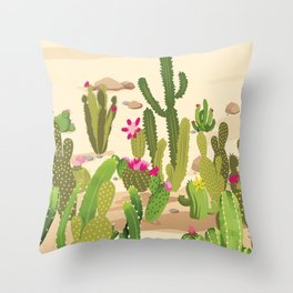 Cactus Variety Throw Pillow