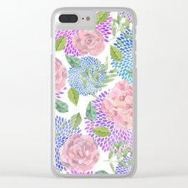 floral pattern vb Clear iPhone Case