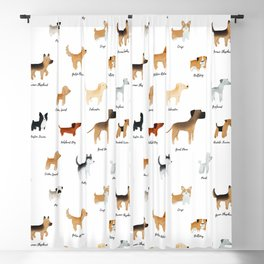 Lots of Cute Doggos - With Names Blackout Curtain