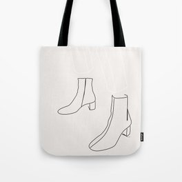 Lady in her boots Tote Bag